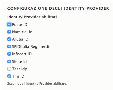 Configurazione IDP