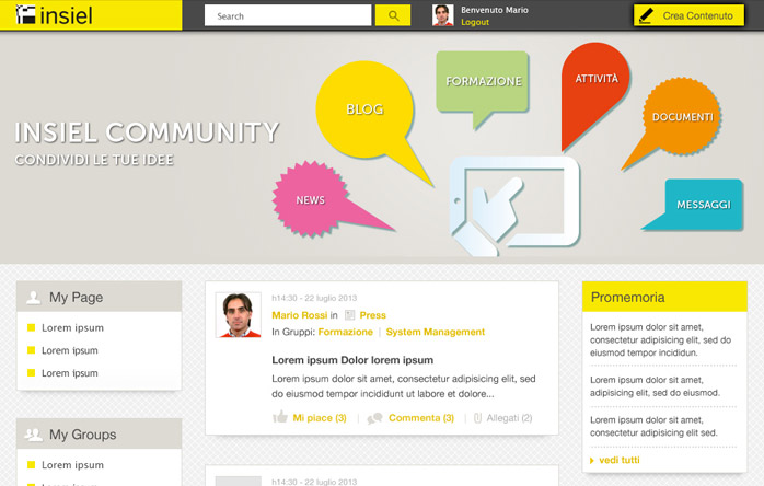 Community Intranet Insiel