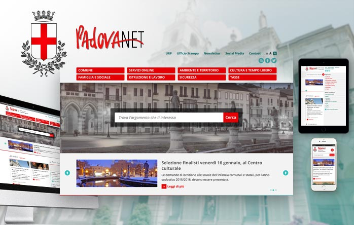 New Website for the City of Padua